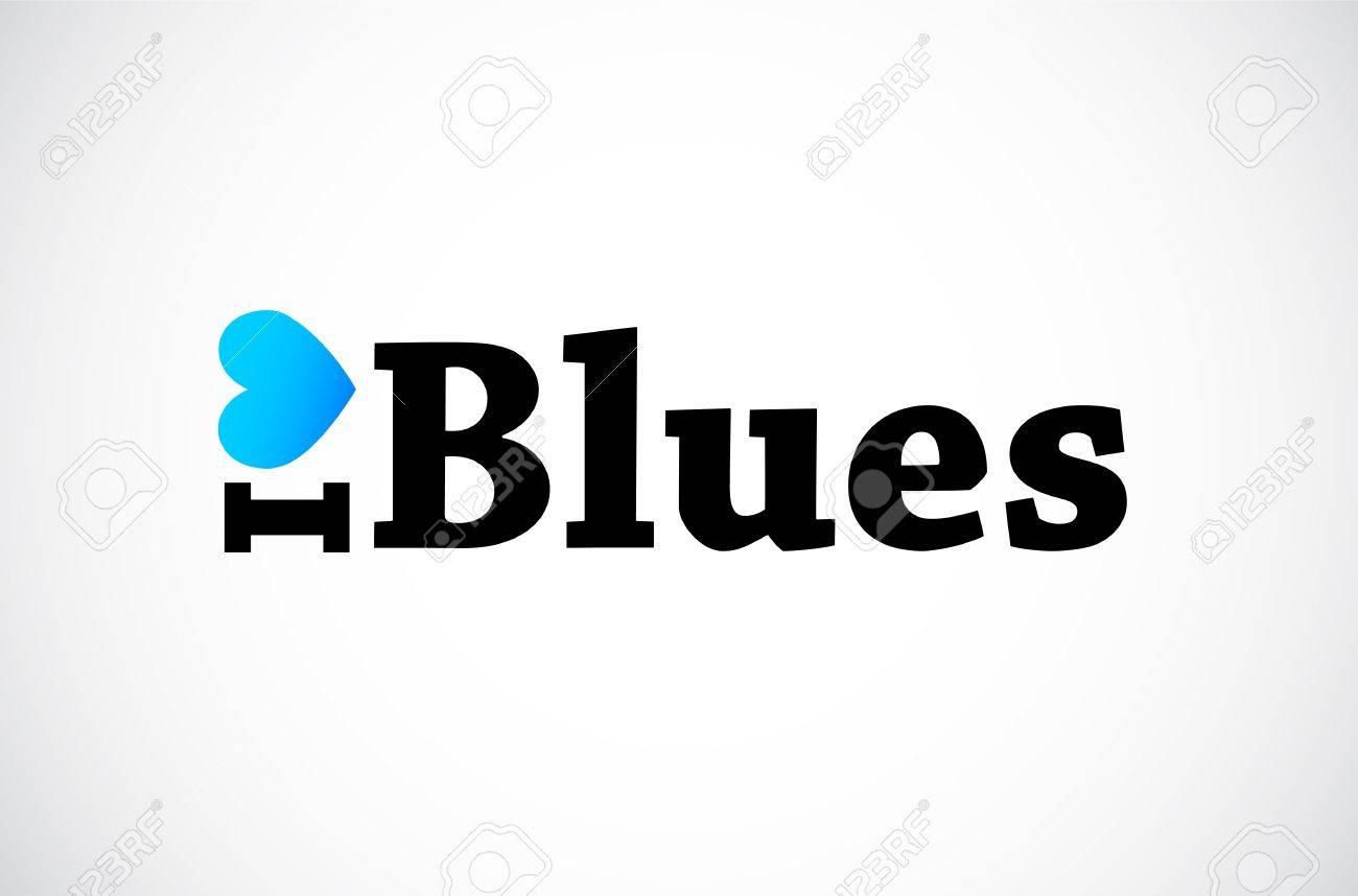 I Love Blues Stock Vector - 11849252
