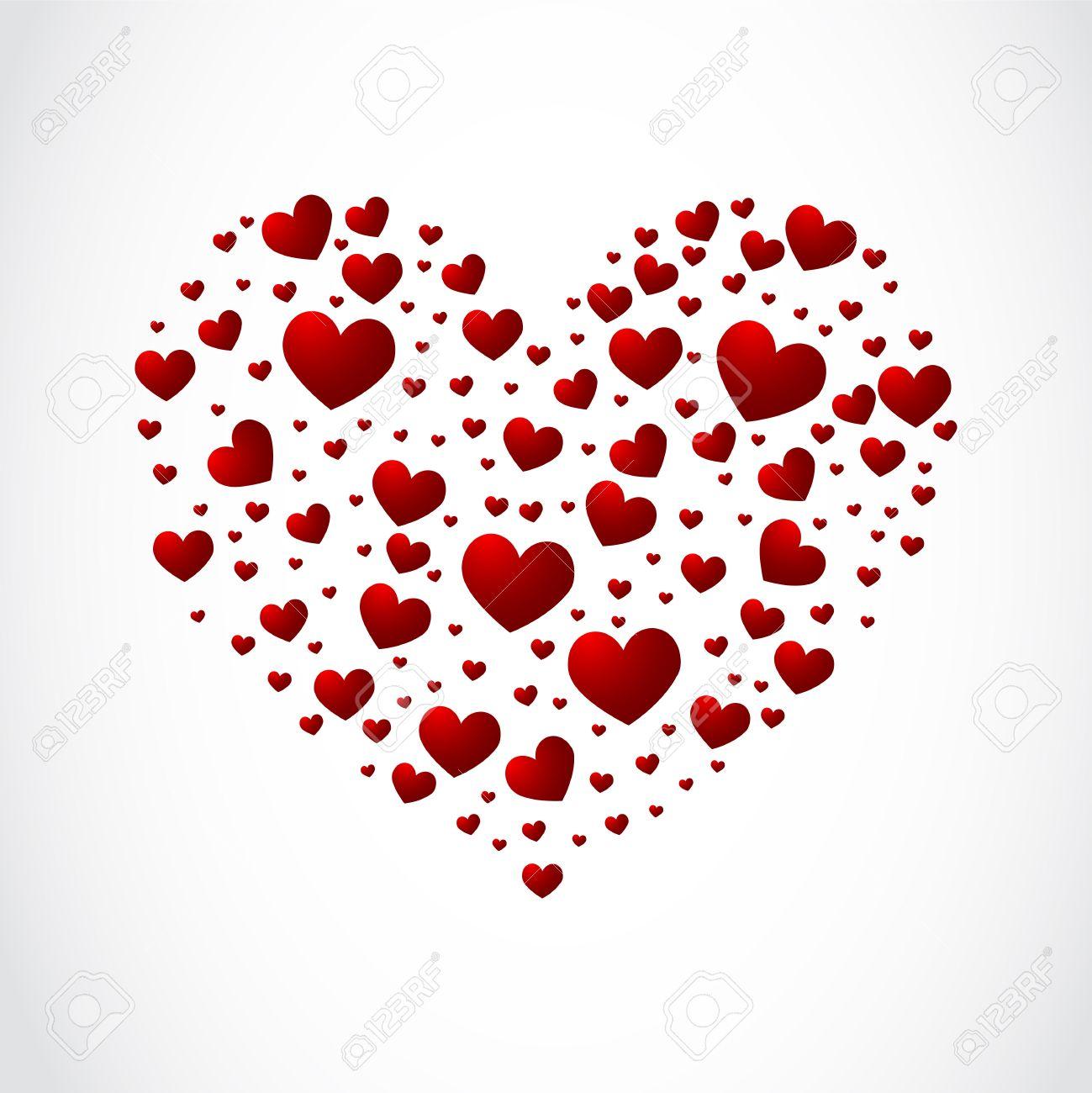 Heart made of small hearts Stock Vector - 11893492