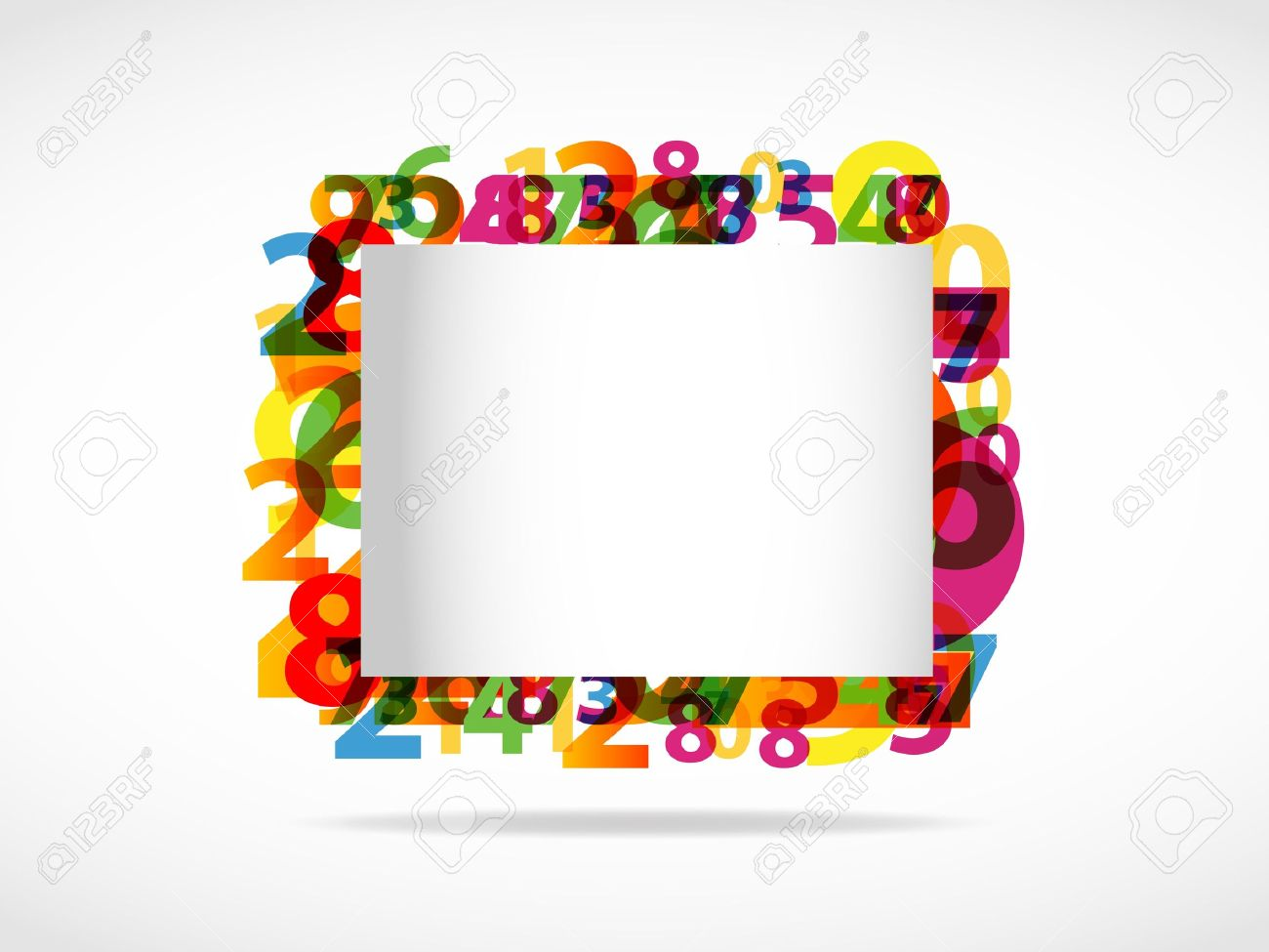 Abstract numbers background Stock Vector - 11965716