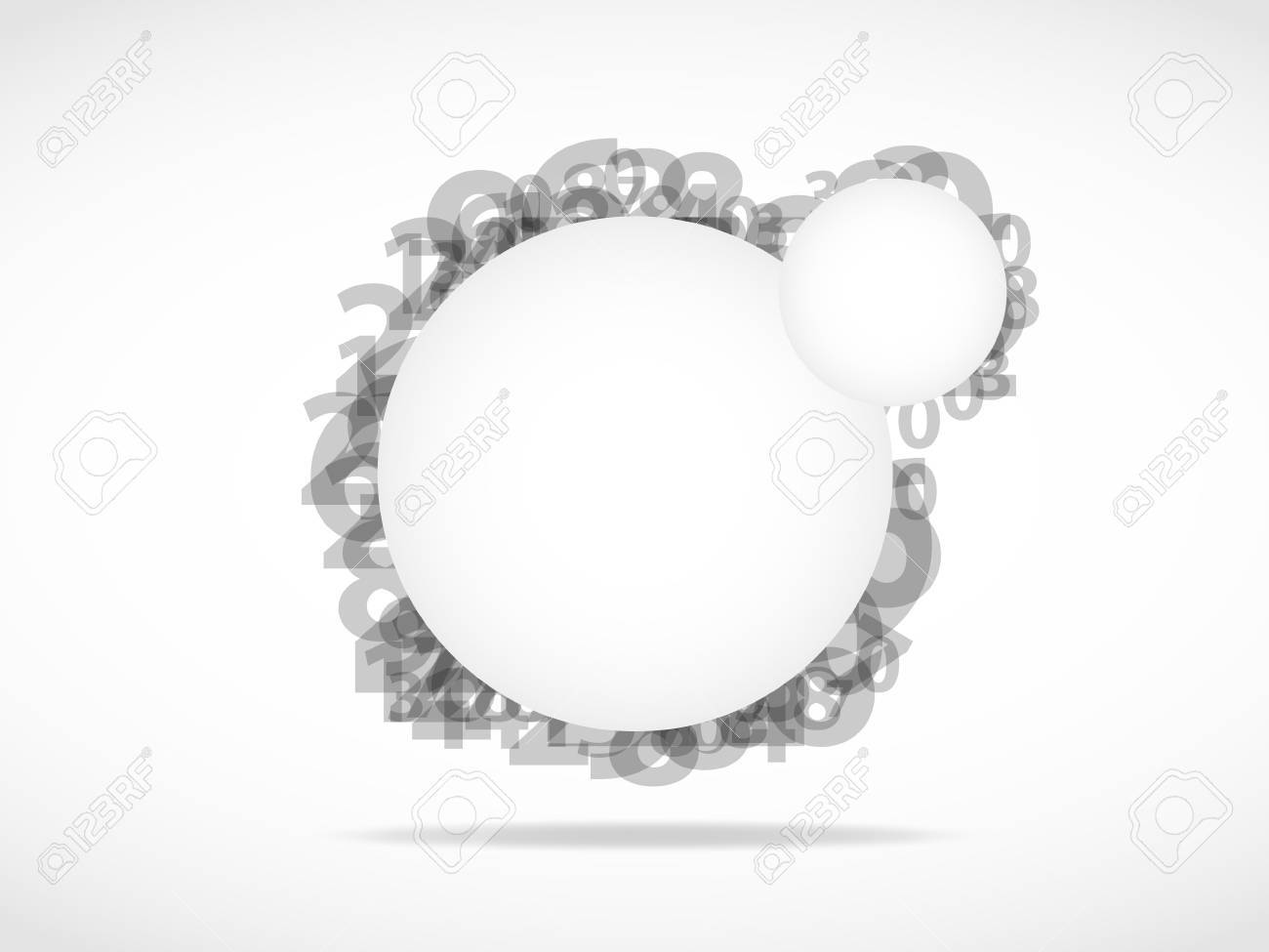 abstract numbers background Stock Vector - 11965579