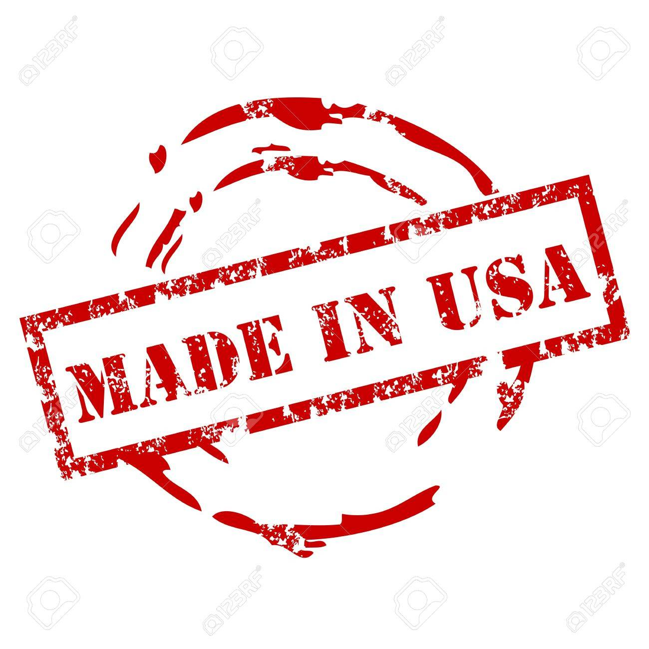 Grunge made in USA stamp Stock Vector - 12222055
