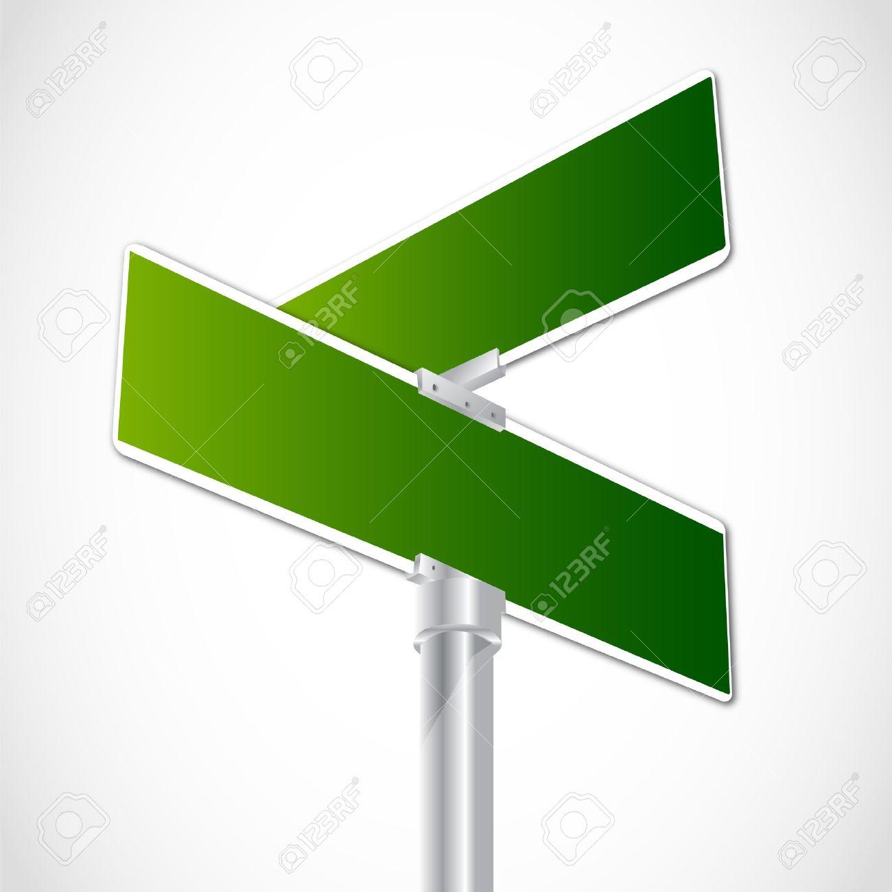 Blank crossroad sign - 12482249