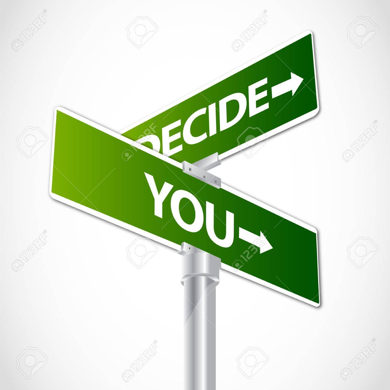 You Decide sign Stock Vector - 12482250