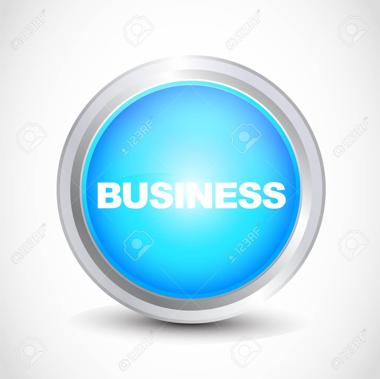 business glossy button Stock Vector - 12585712