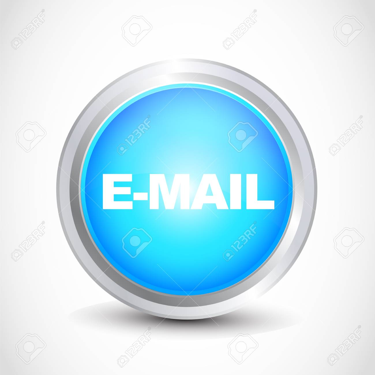 e-mail   glossy button Stock Vector - 12840762