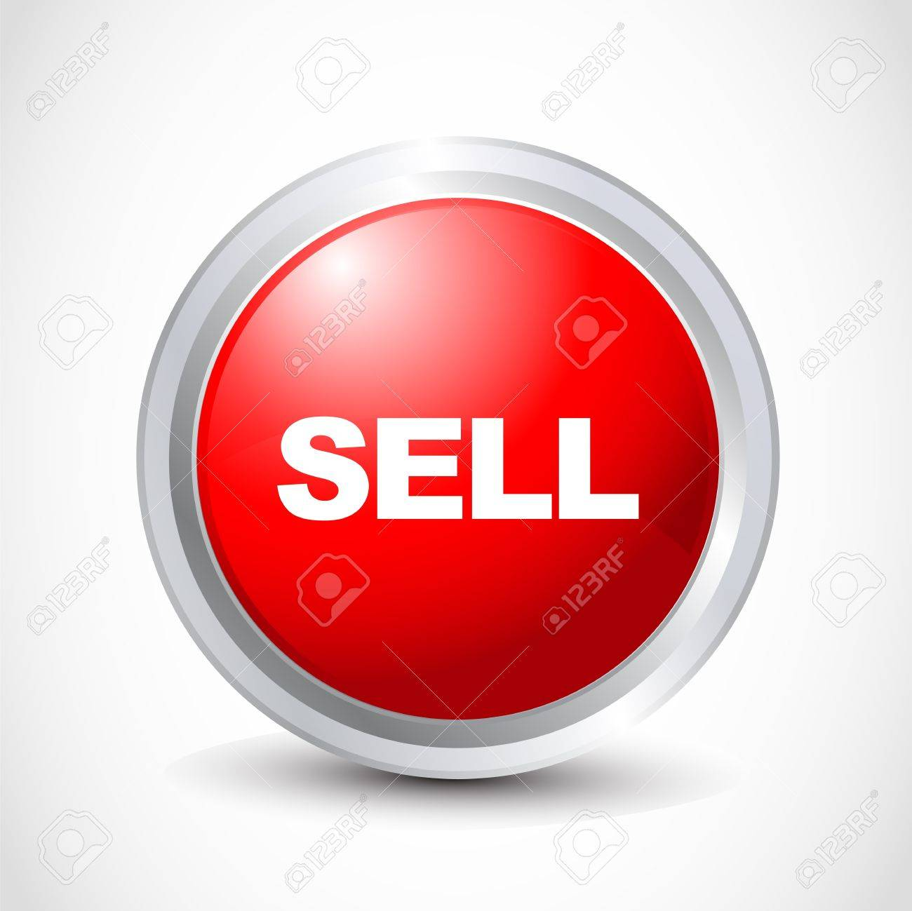 sell glossy button Stock Vector - 12840783