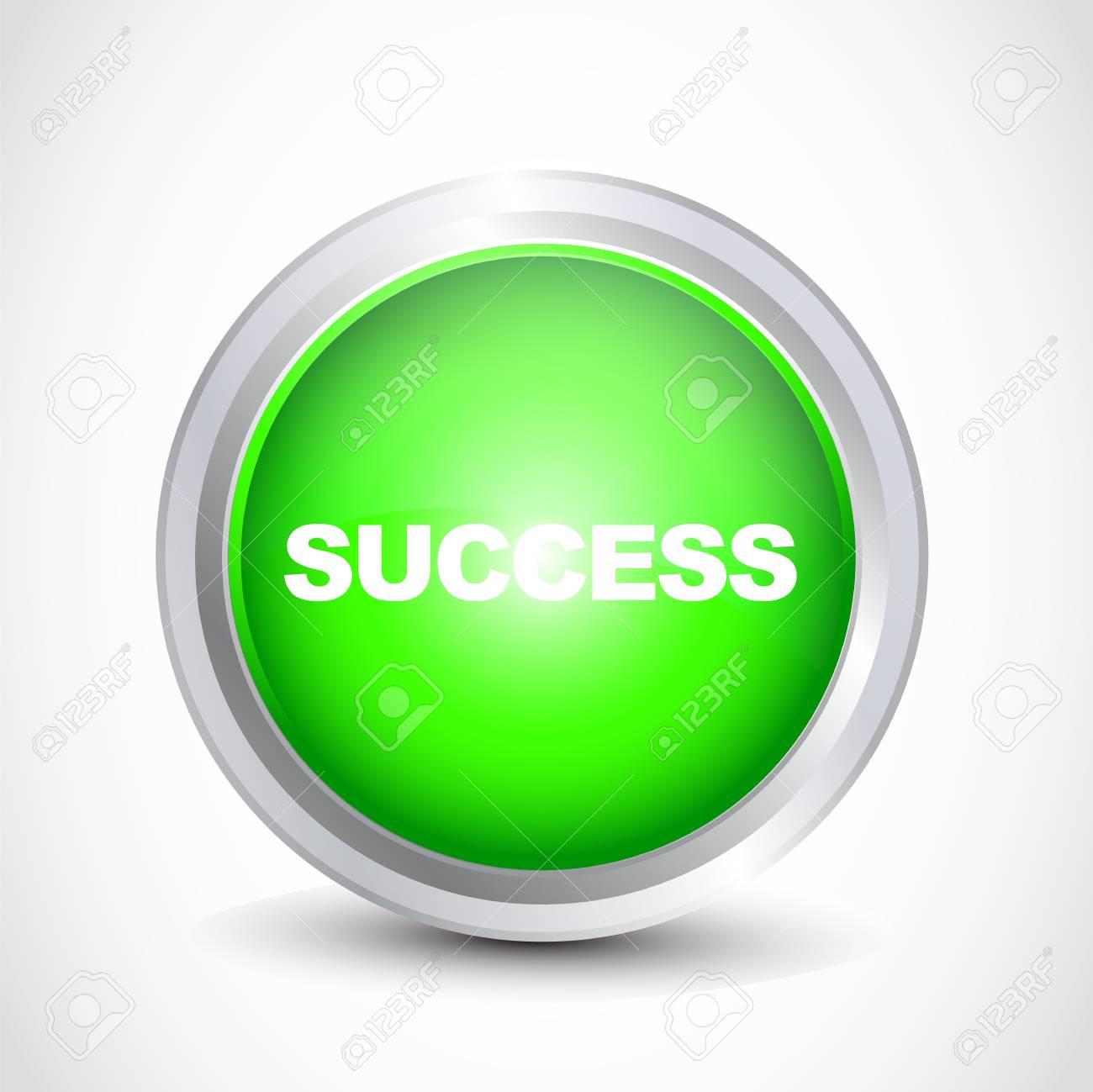 Success button Stock Vector - 12840836