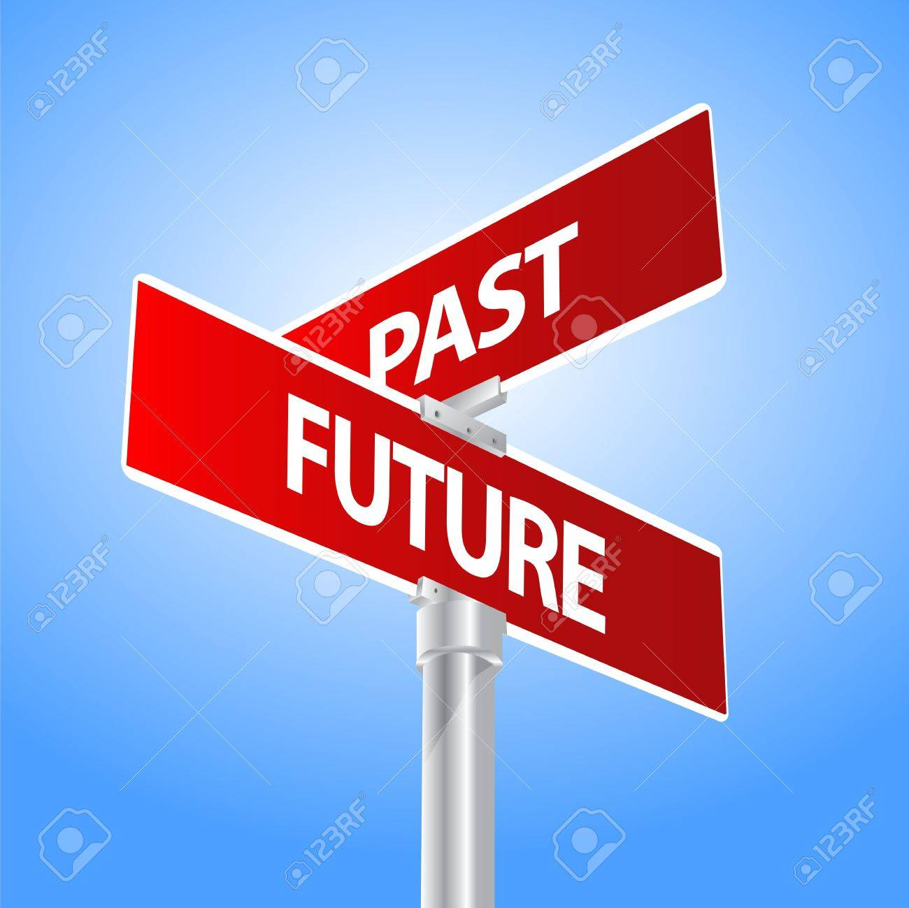 Future Past Sign Stock Vector - 13447730