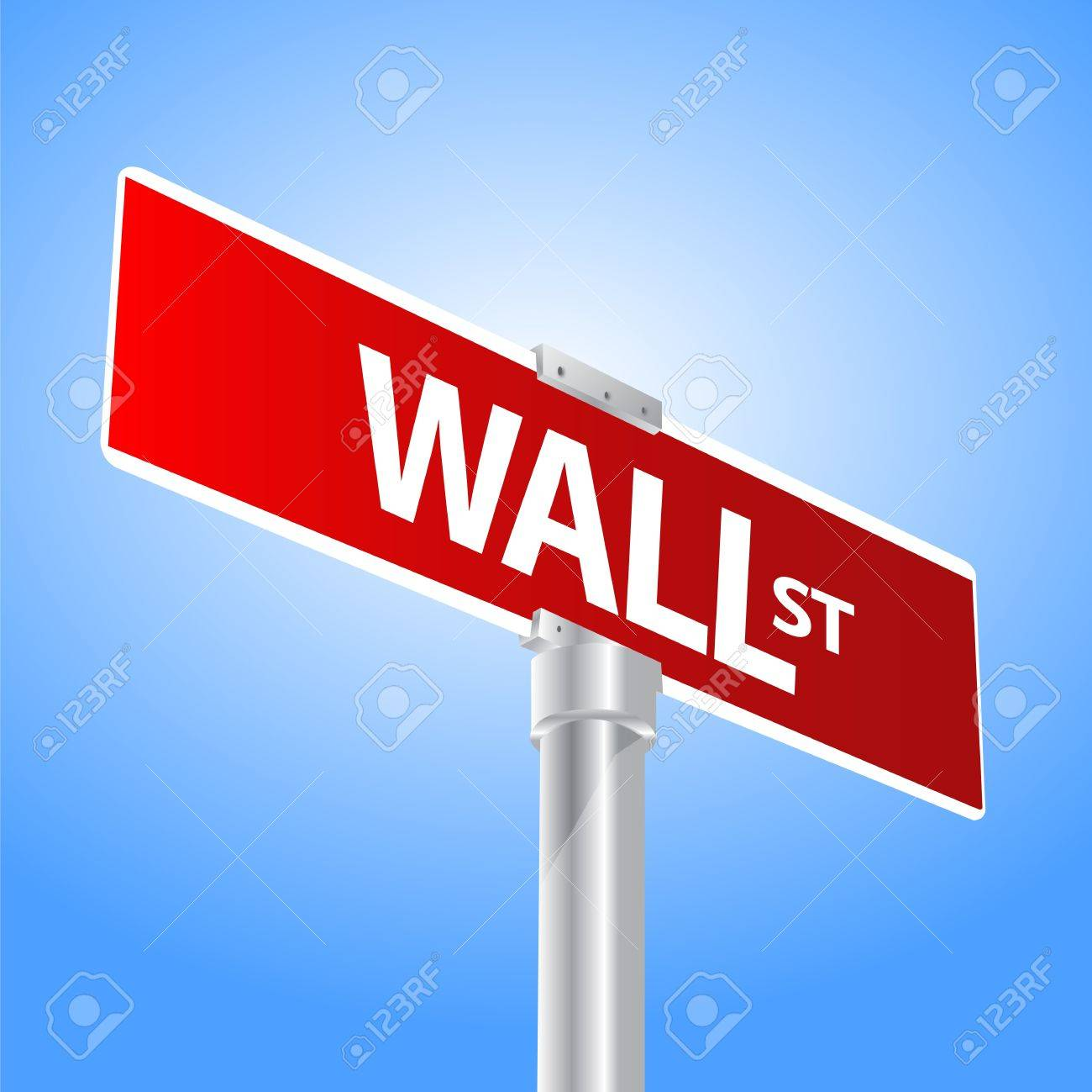Wall Street sign Stock Vector - 13470527