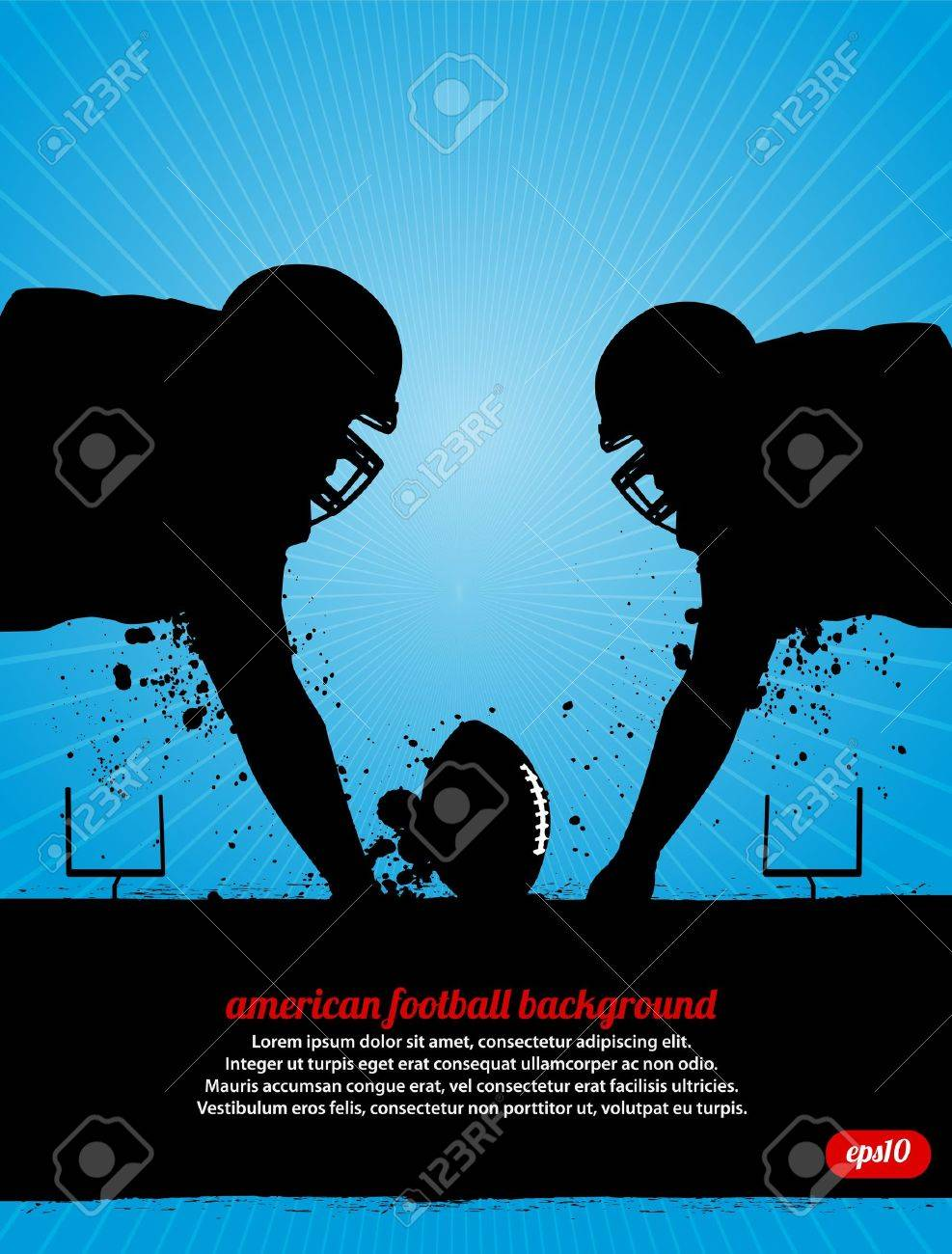 Football Faceoff Stock Vector - 14200070