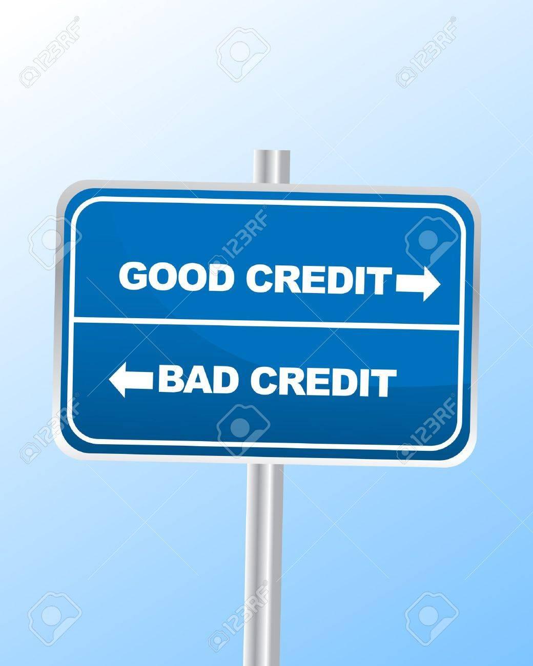 Good vs Bad Credit Stock Vector - 14361457