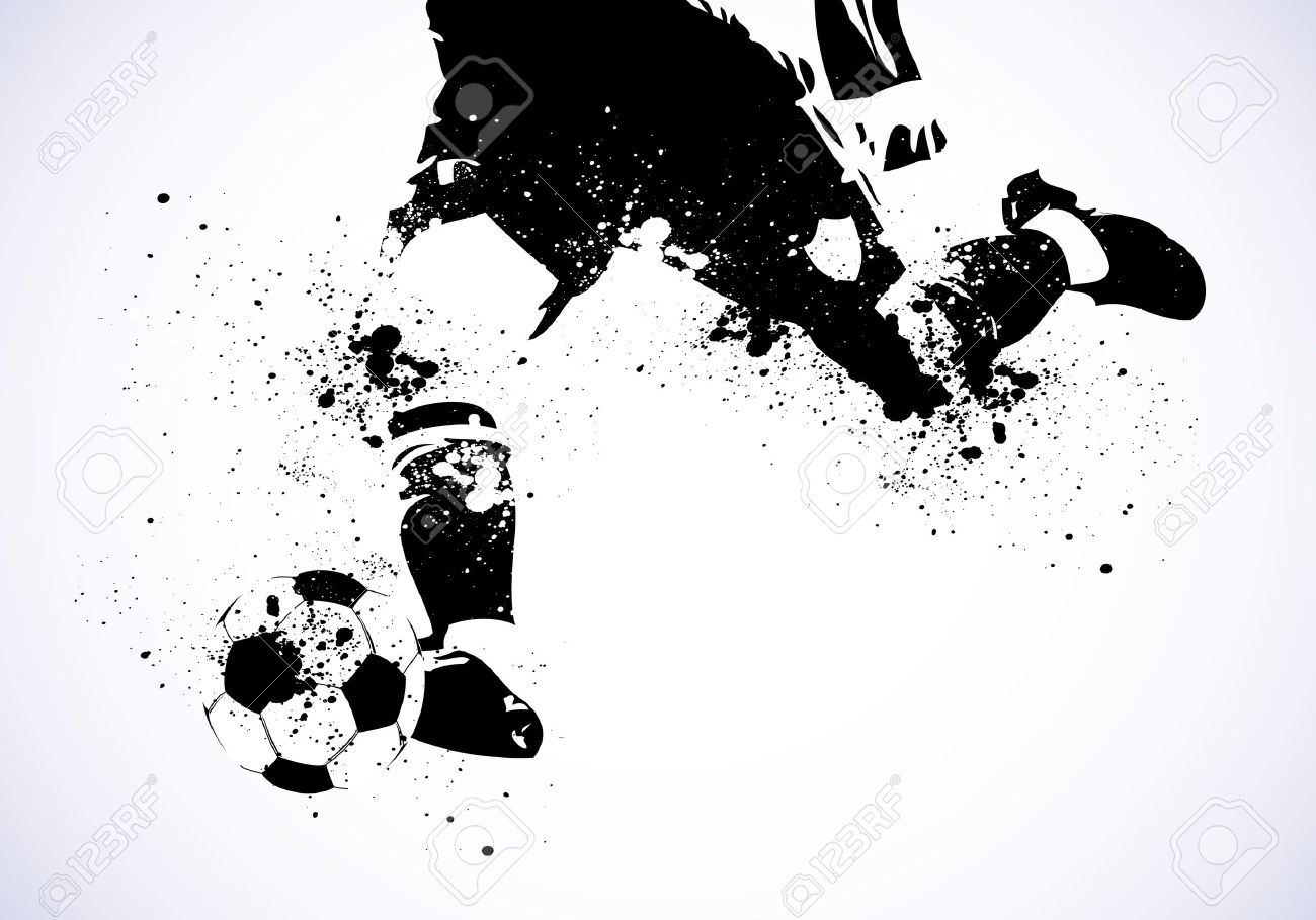 Soccer Poster Black White