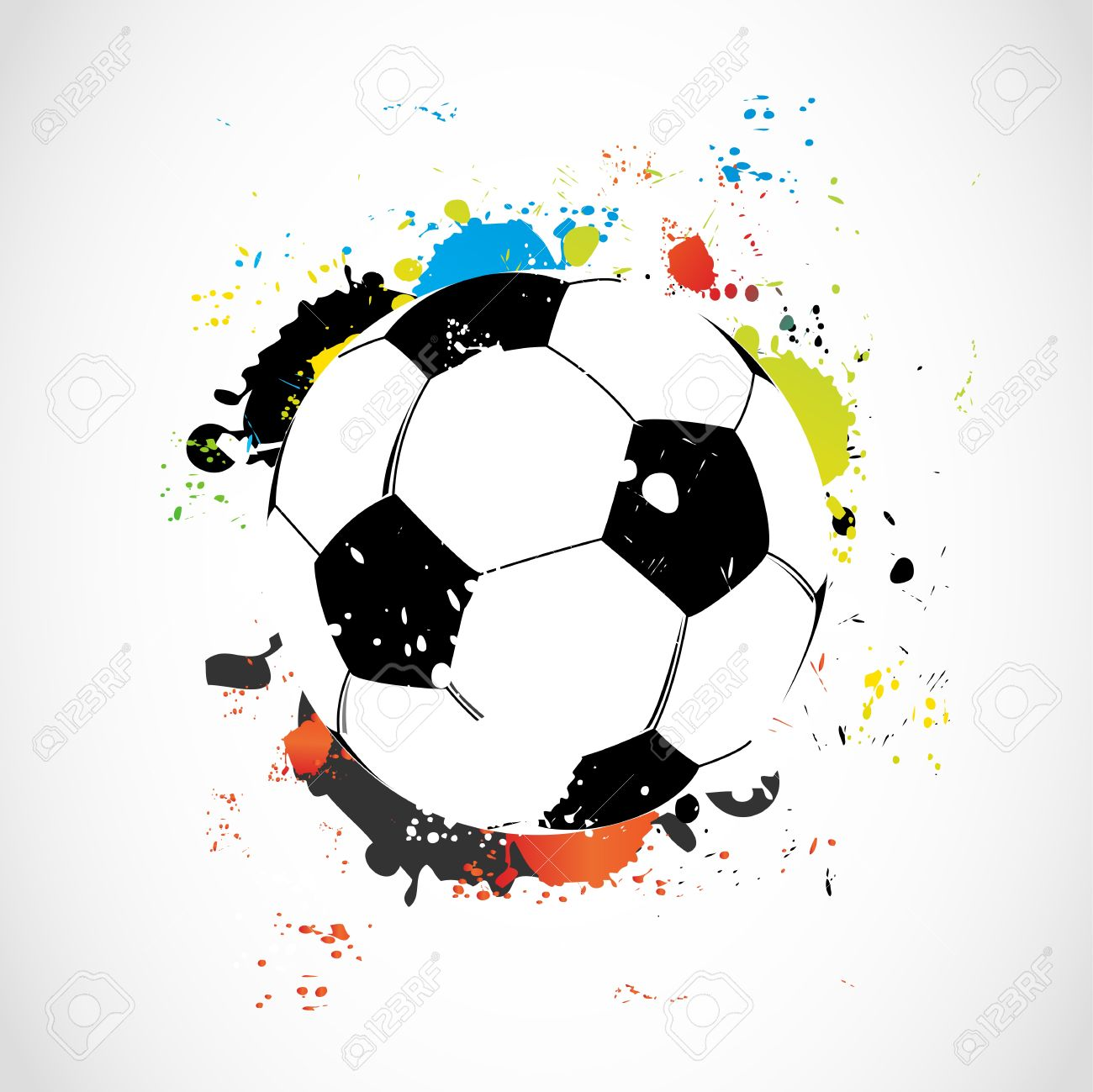 Abstract colorful grunge soccer ball Stock Vector - 15579147