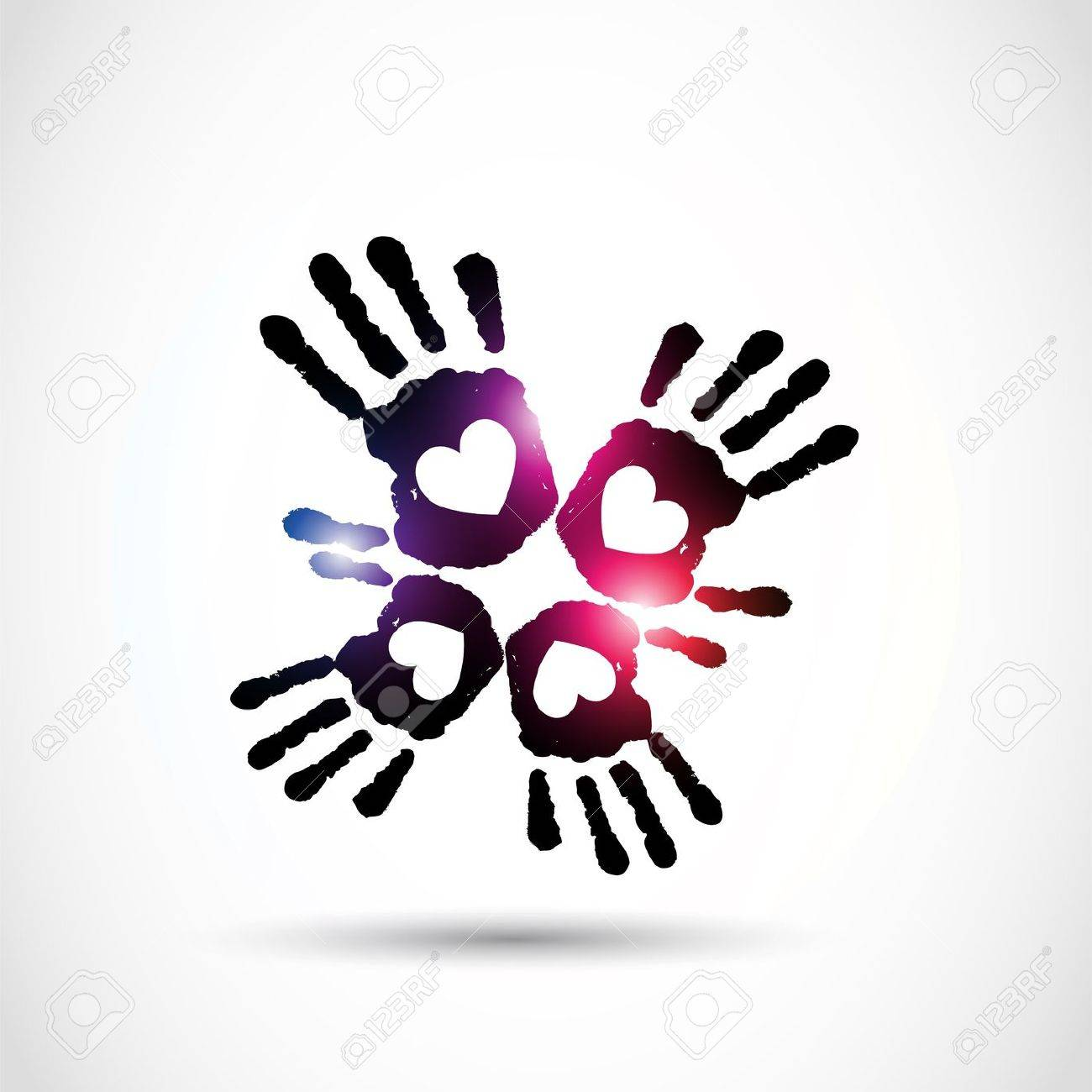 abstract love hand Stock Vector - 15579168
