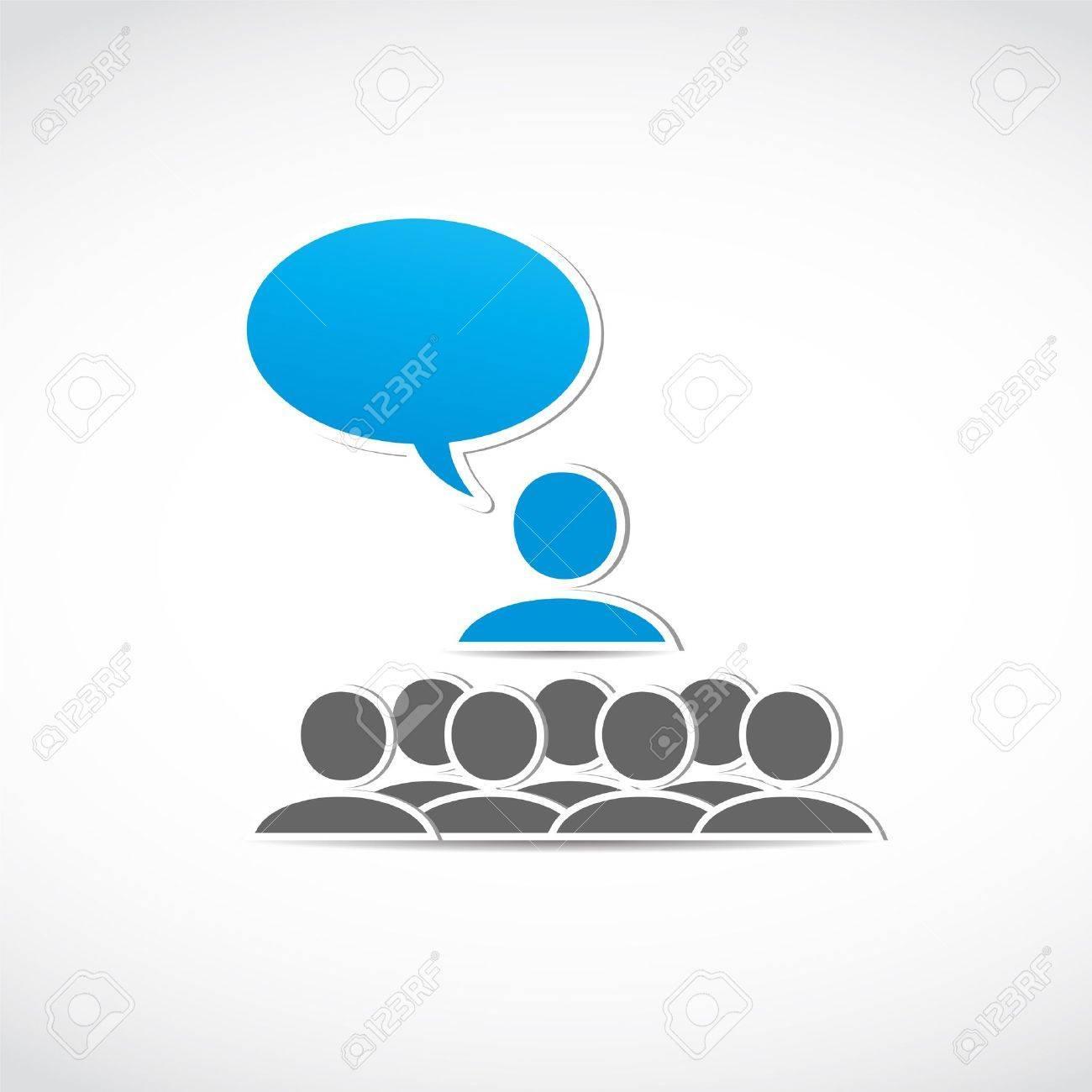 business seminar speech Stock Vector - 15600616