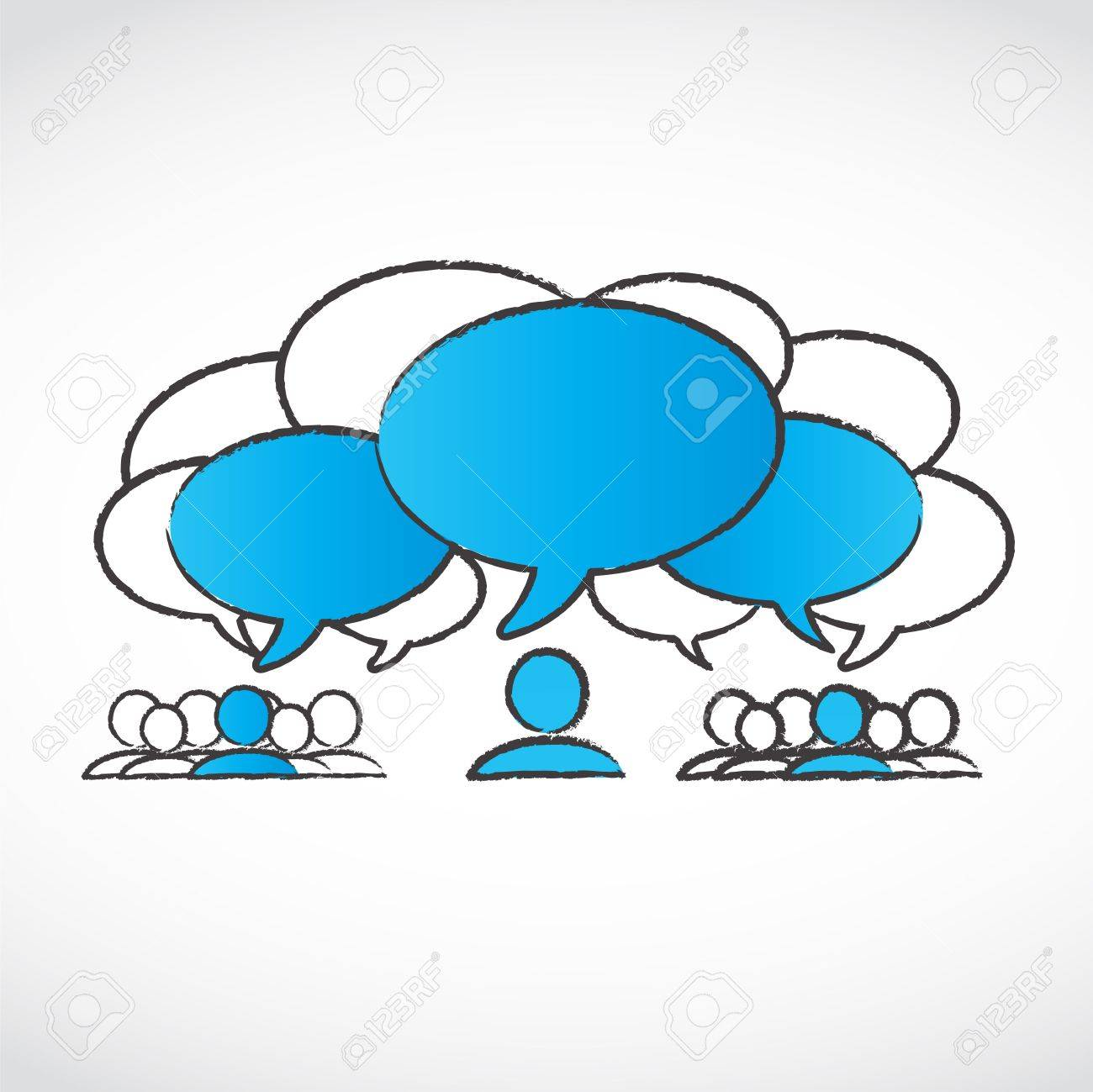 different ideas speech bubbles Stock Vector - 15600597