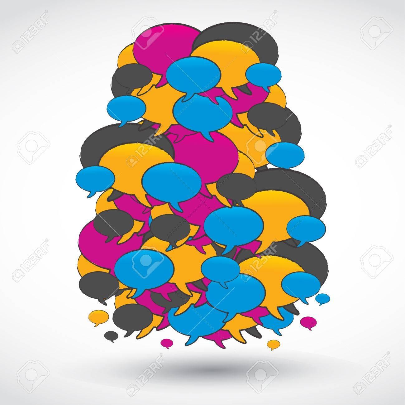 Big social media speech bubble Stock Vector - 15629131