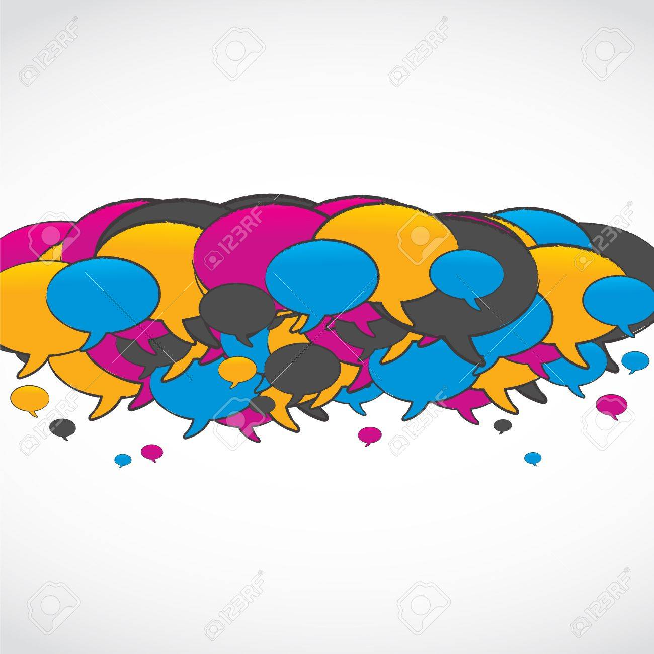 colorful social media speech bubbles Stock Vector - 15629113