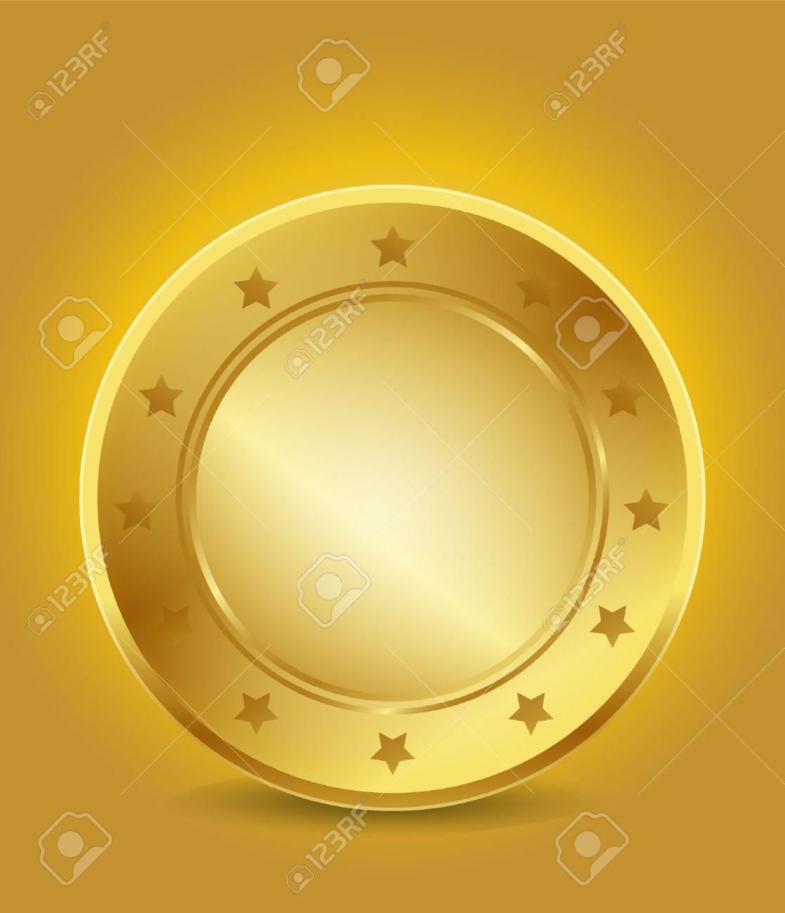 Empty Golden Guarantee Label Stock Vector - 15746002