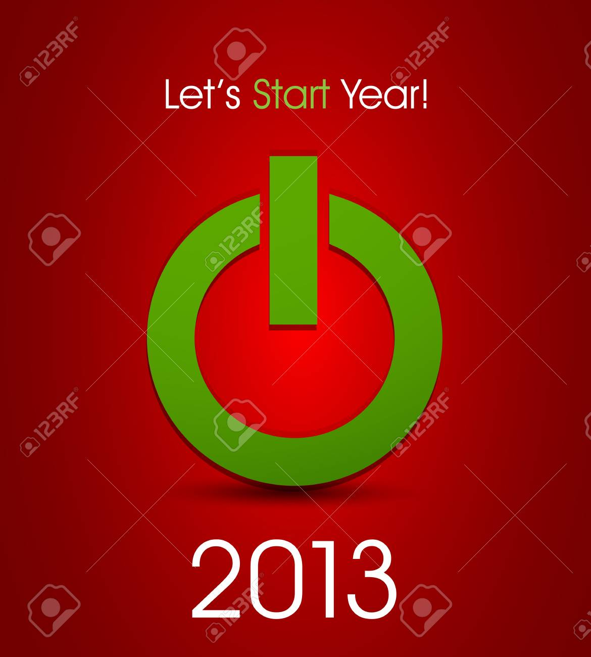 power button for year 2013 Stock Vector - 15821013