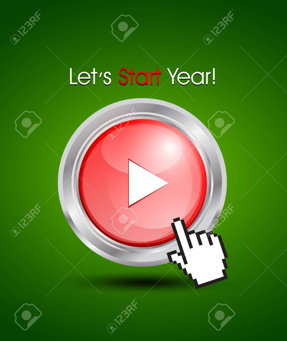 starting a new year concept Stock Vector - 15821033