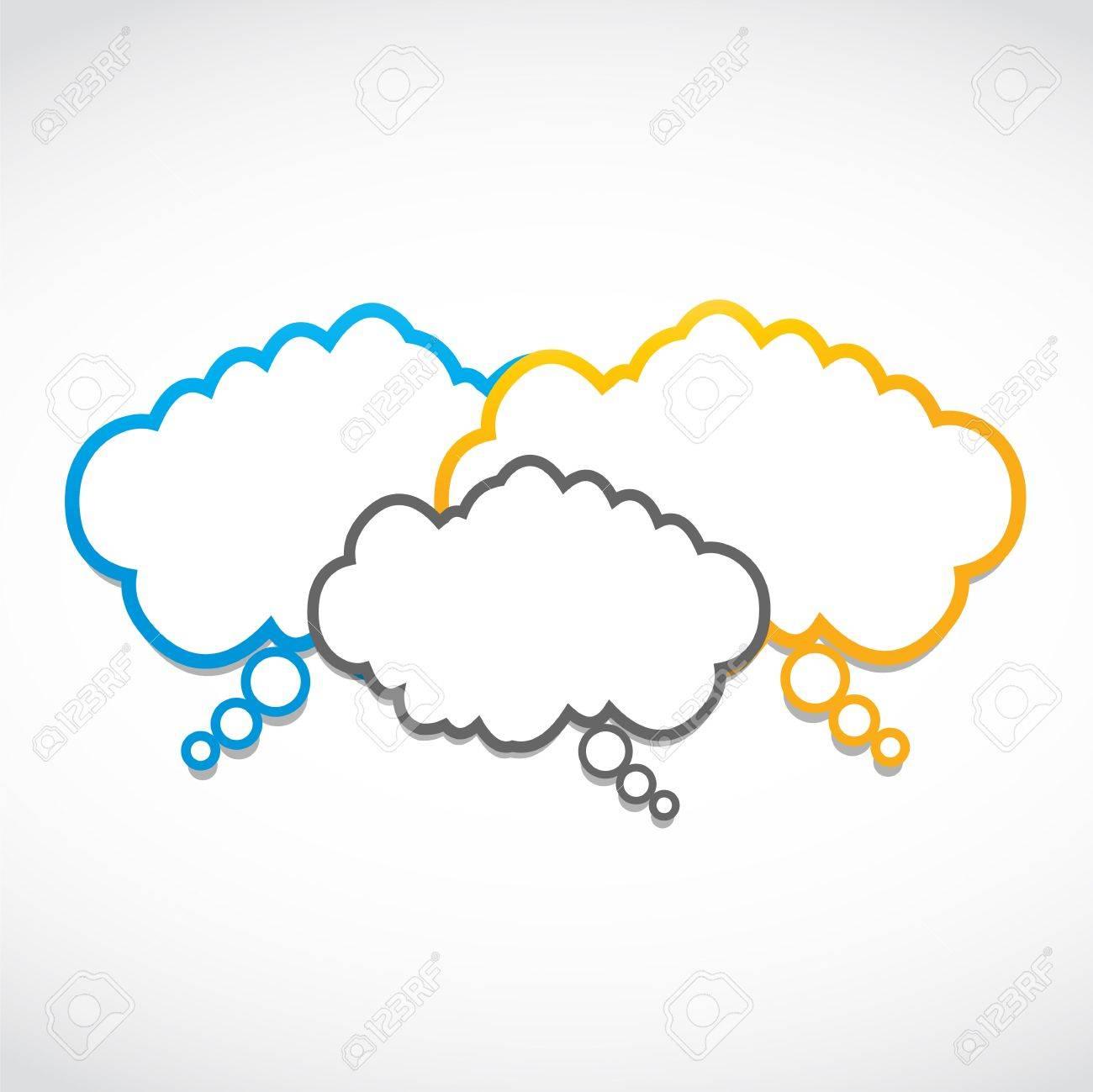 seminar speech clouds Stock Vector - 15874474