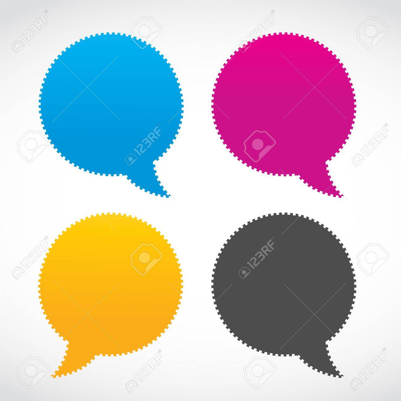 abstract colorful thought bubbles Stock Vector - 15874424