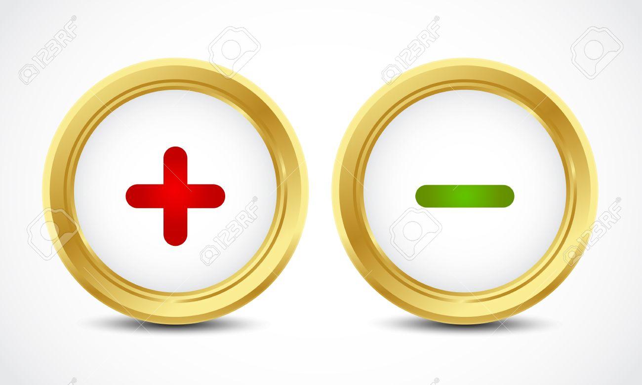 plus minus buttons Stock Vector - 16024411