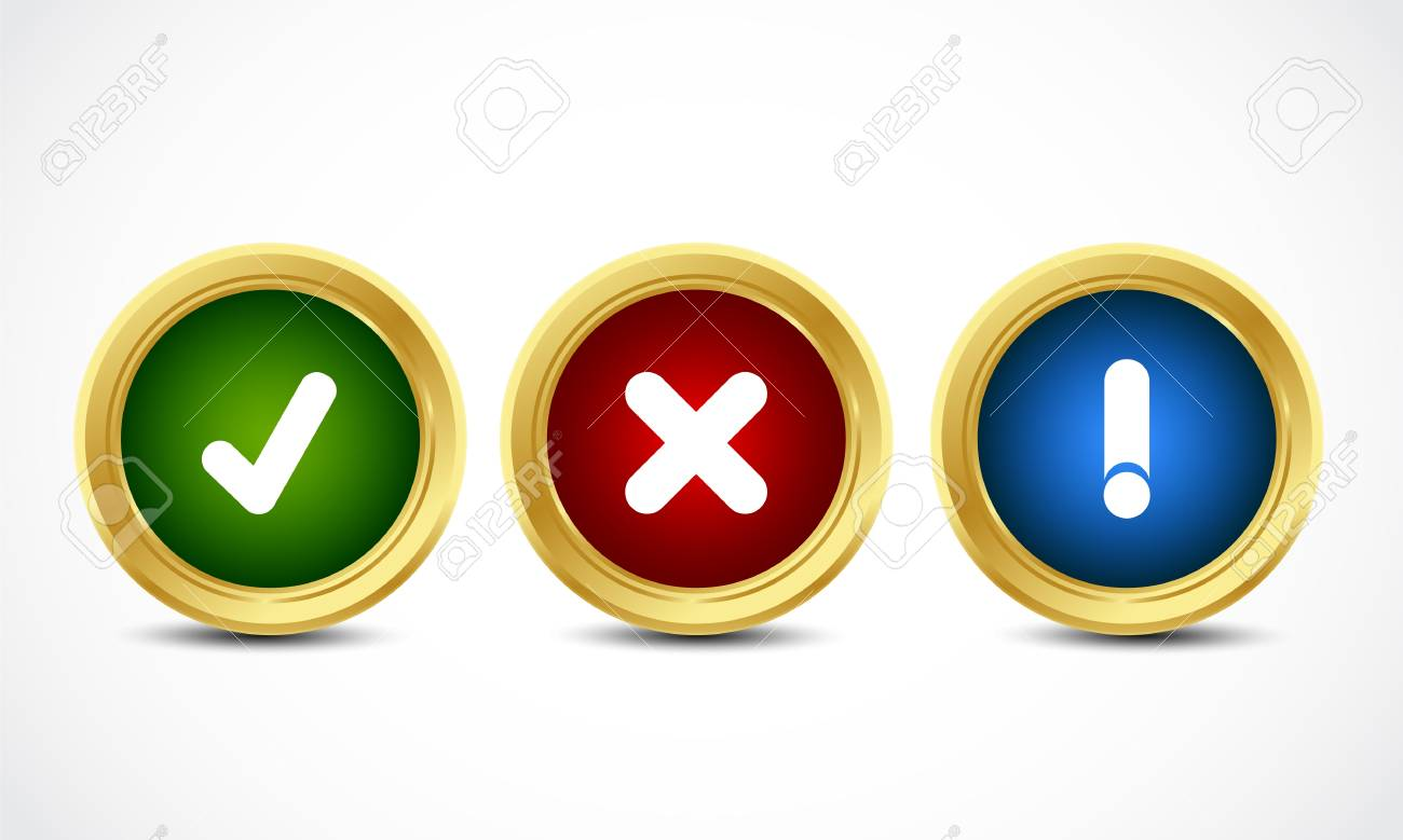 brilliant security buttons Stock Vector - 16024435