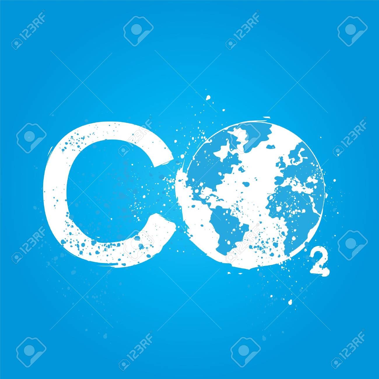 grunge CO2 concept Stock Vector - 16307508