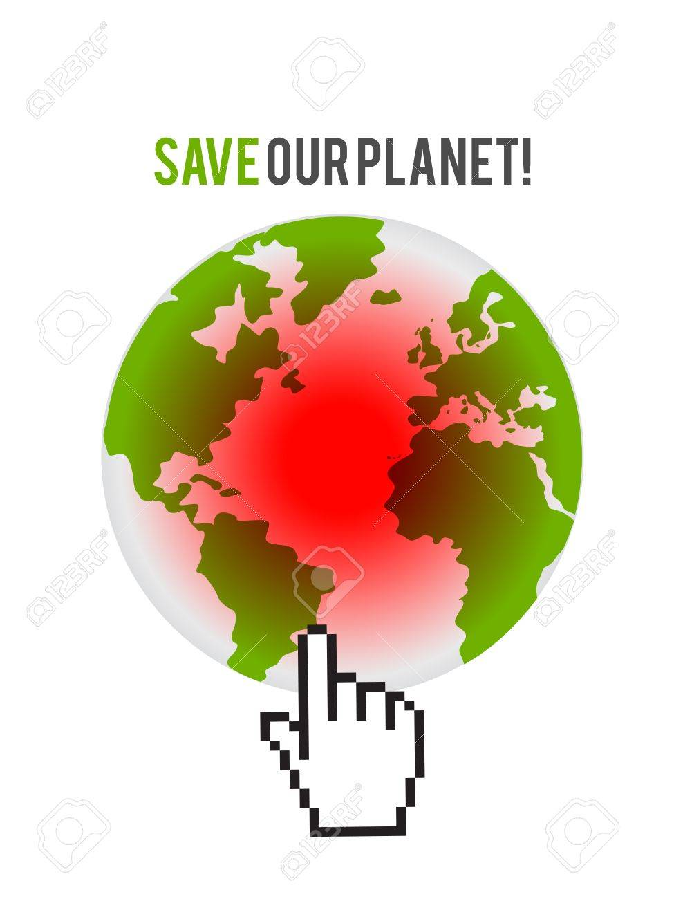 pointing global disasters Stock Vector - 16307535