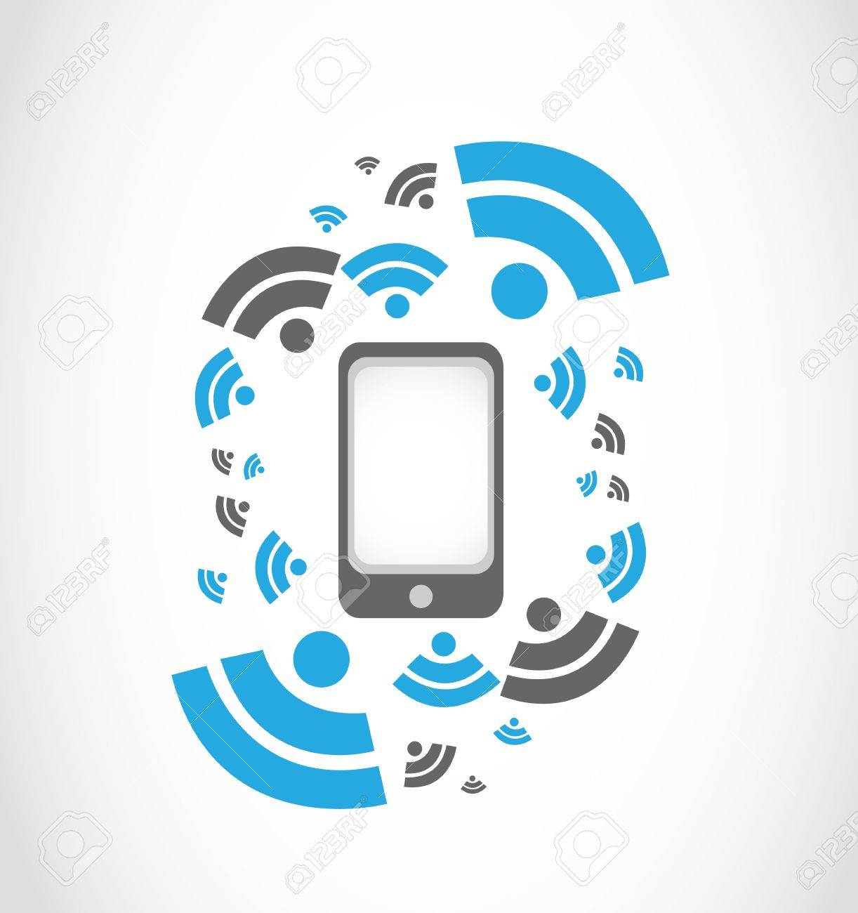 wireless network mobil phone Stock Vector - 17296293