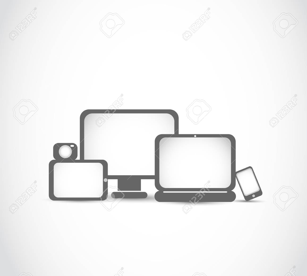 electronic devices new technology concept Stock Vector - 17296487