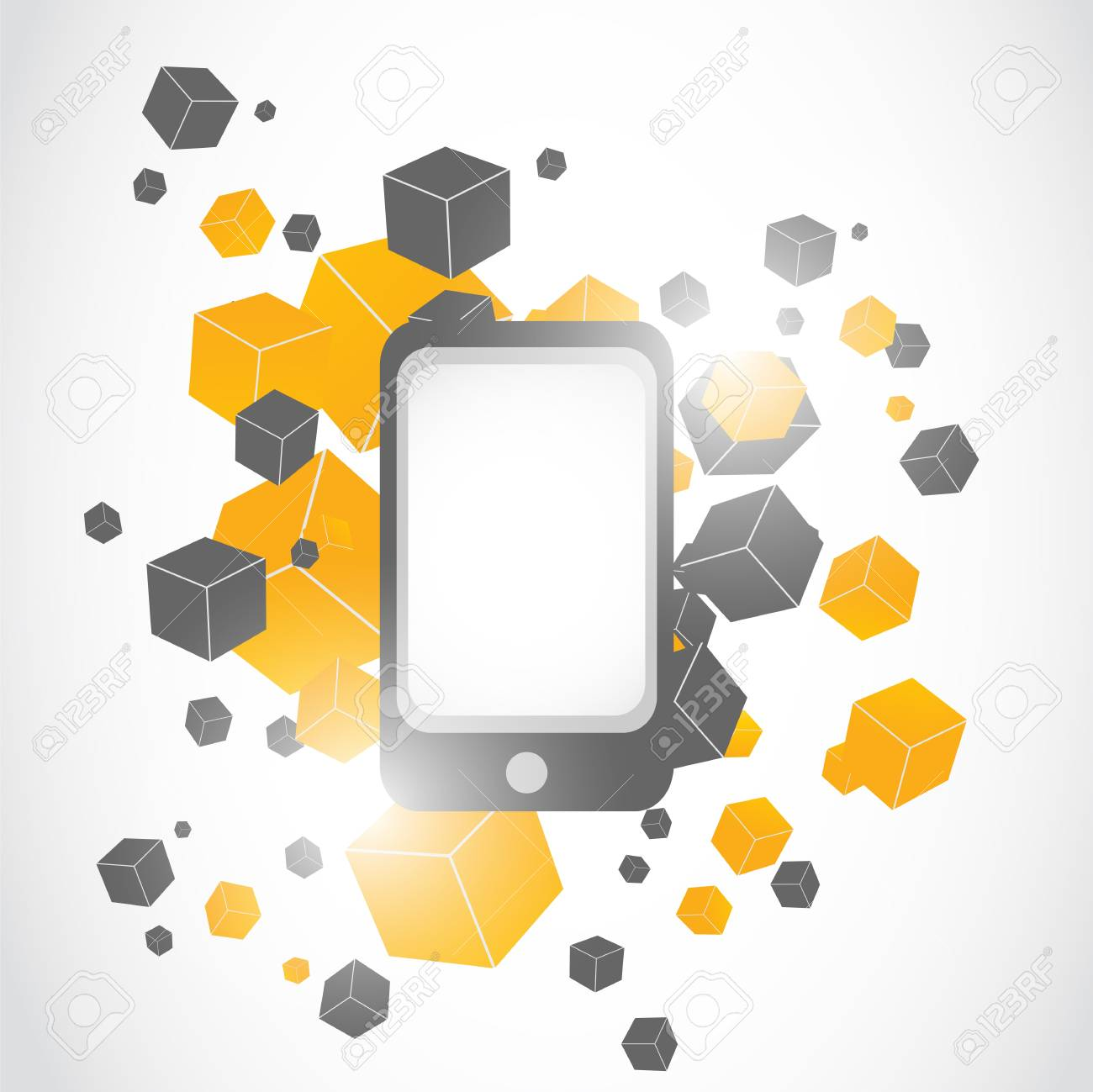 abstract modern smartphone illustration background Stock Vector - 17296529