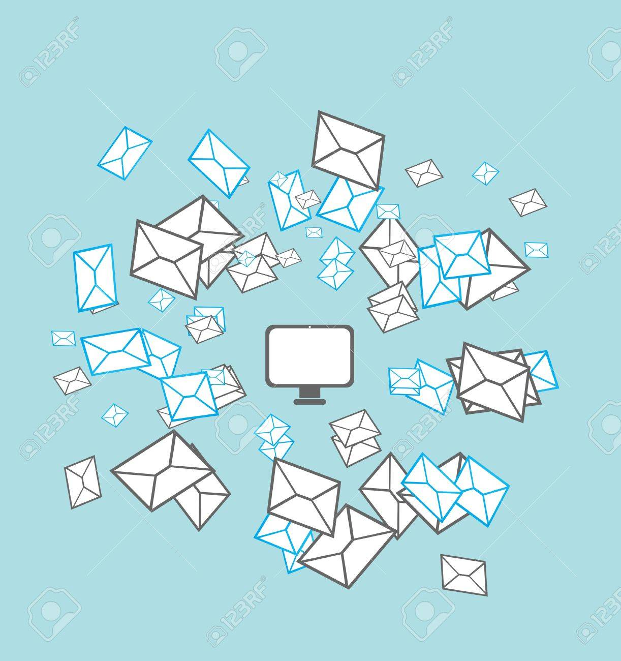 mailing list concept Stock Vector - 17296324