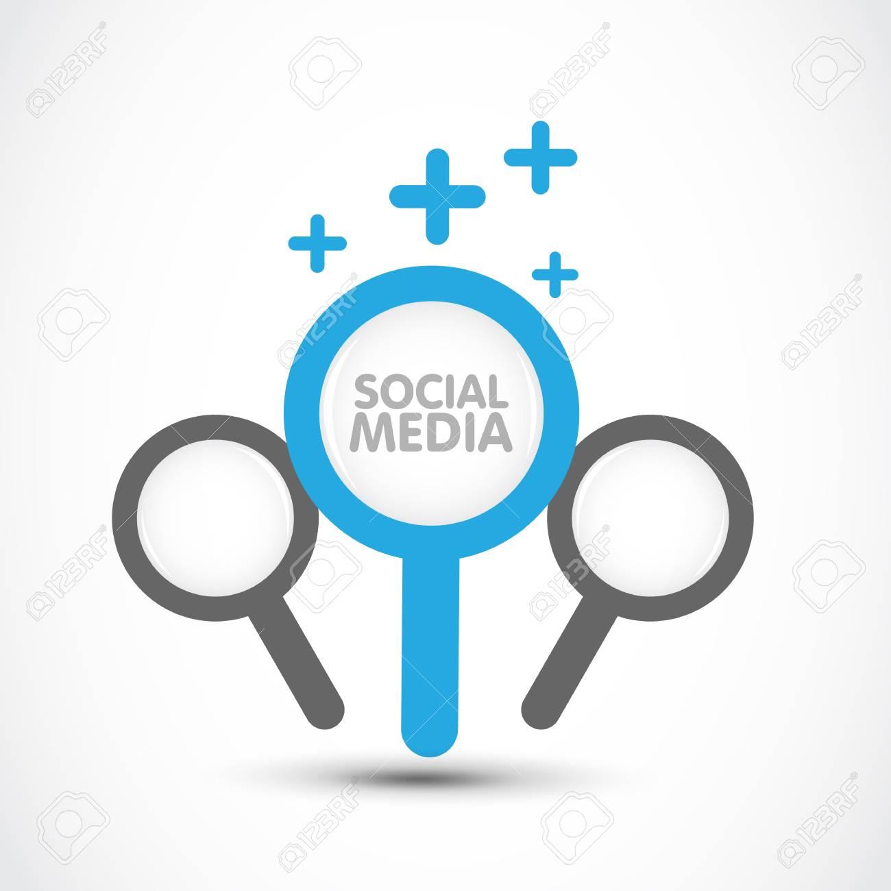 social media search concept
