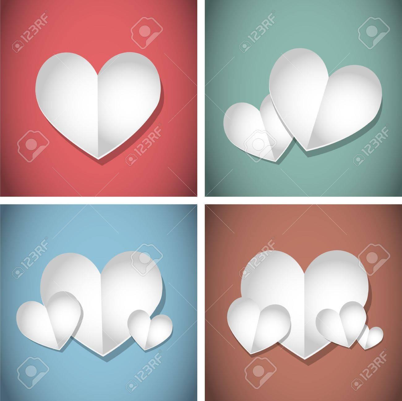 paper hearts Stock Vector - 17570343