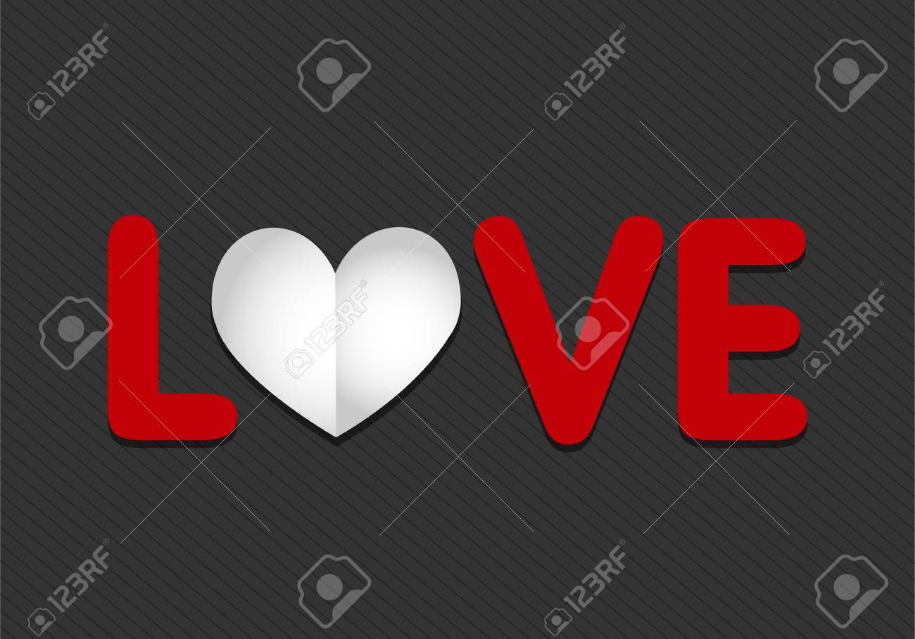 paper love heart Stock Vector - 17665692