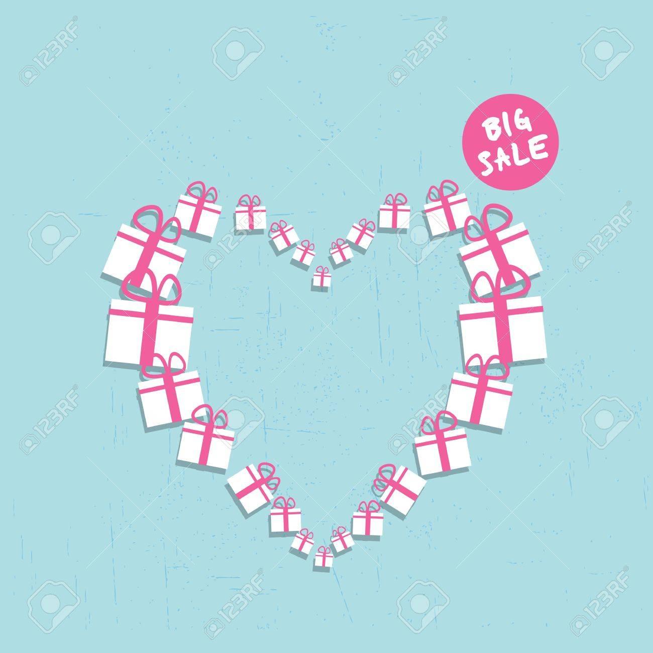 shopping heart big sale concept Stock Vector - 17665700