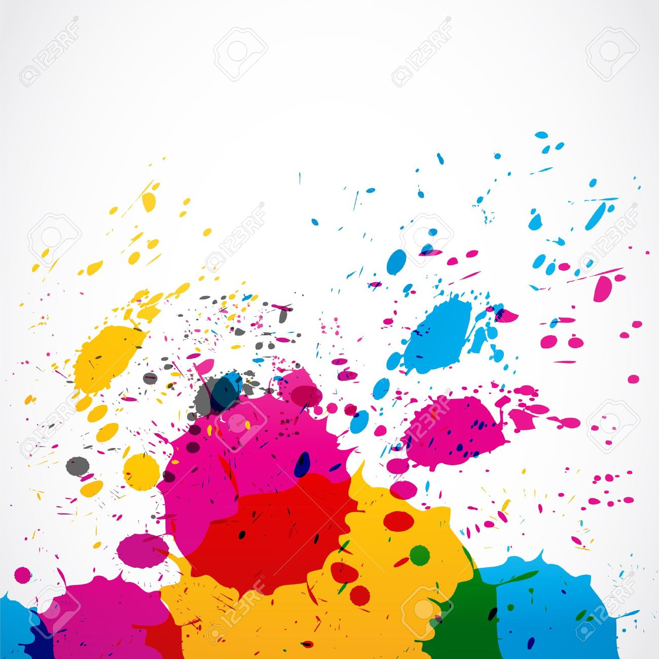 colorful grunge splash paint Stock Vector - 18135410