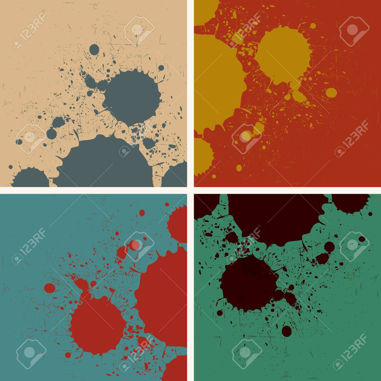 abstract vintage retro watercolor splashes Stock Vector - 19370265