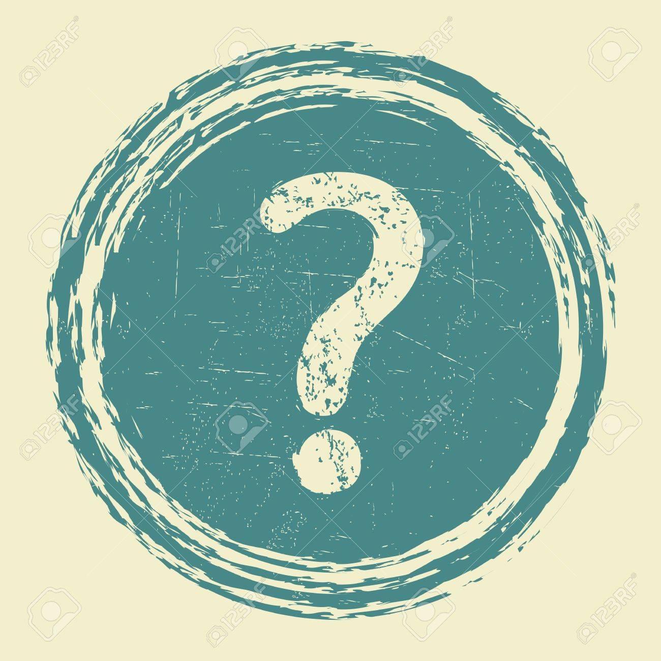help, question grunge sticker Stock Vector - 19370143