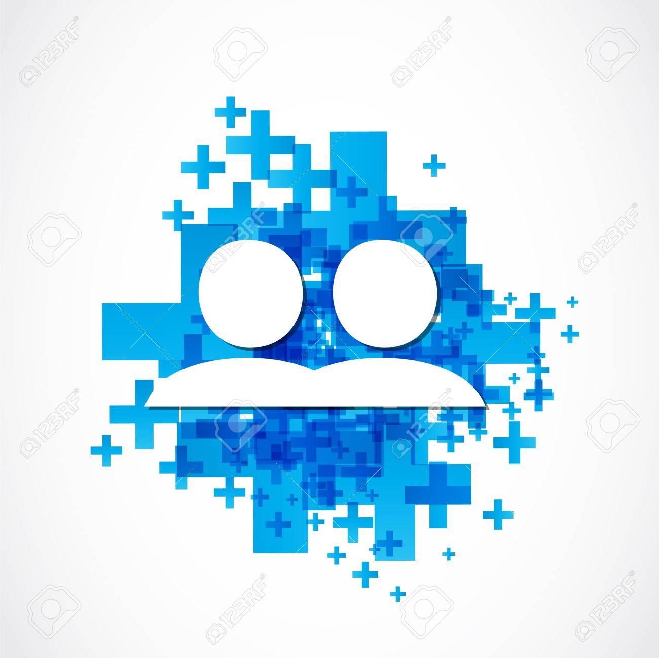 social media positive design Stock Vector - 19369984