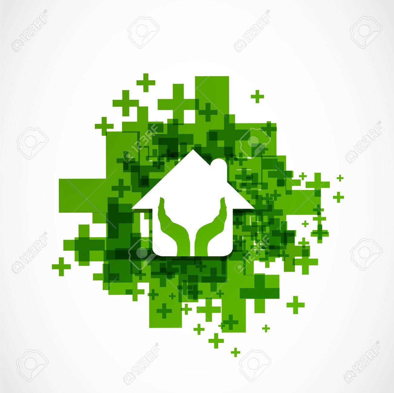 protect house abstract design Stock Vector - 19370138