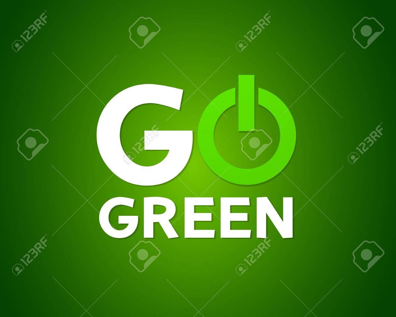 Go green power Stock Vector - 19991813