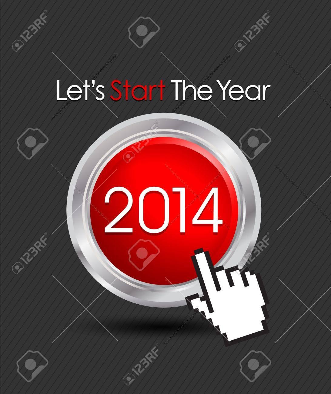 2014 web start button Stock Vector - 20384123