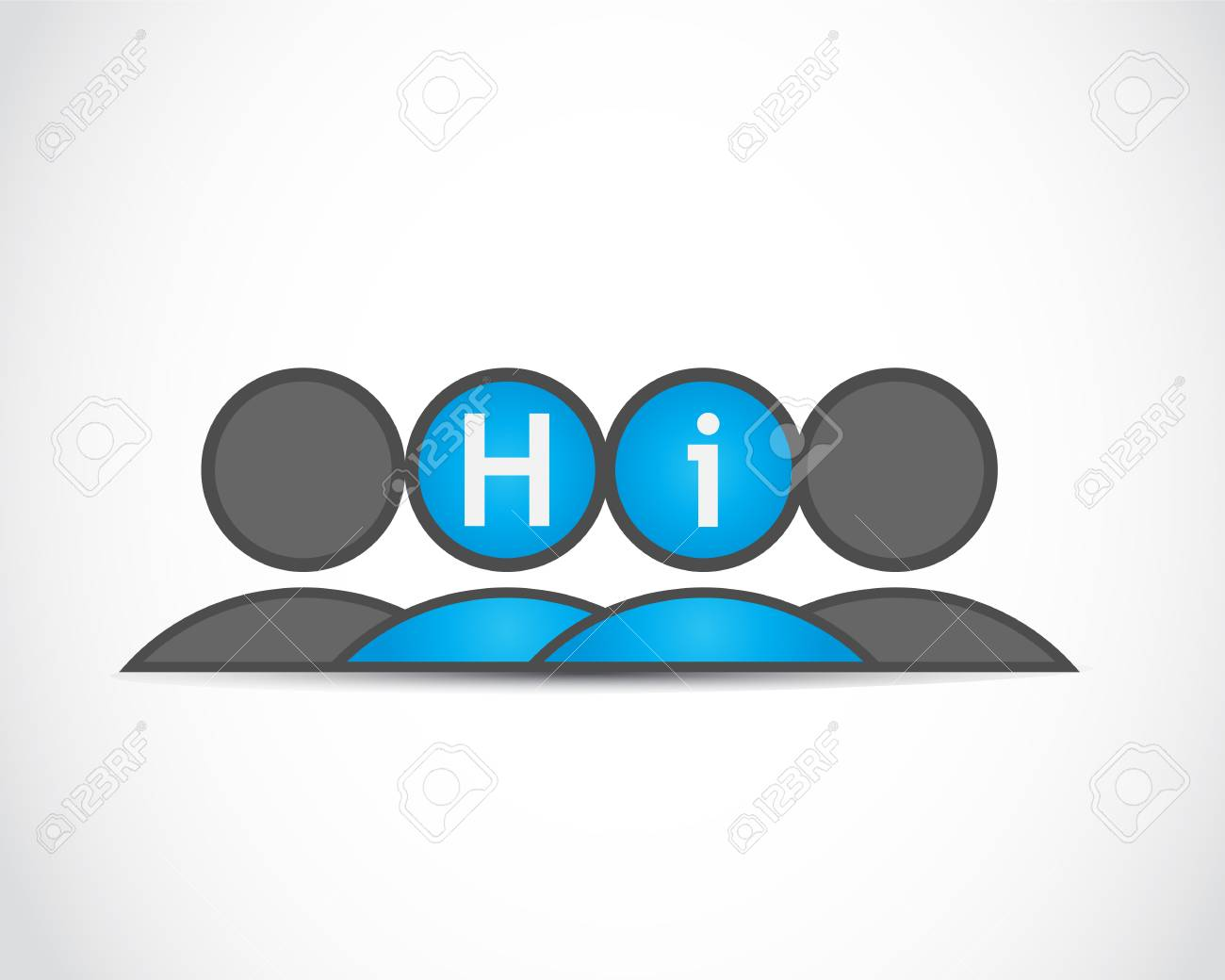 Hi  Business meeting Stock Vector - 22704584