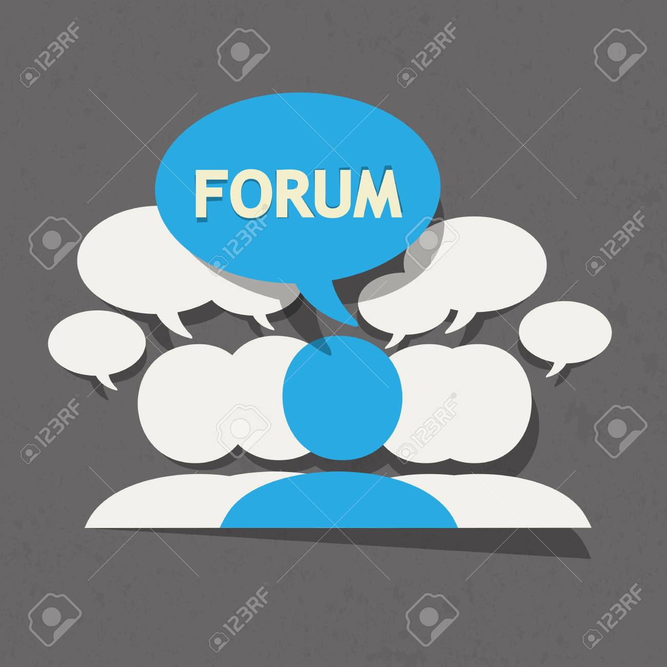 Forum group with speech bubble Stock Vector - 22748738