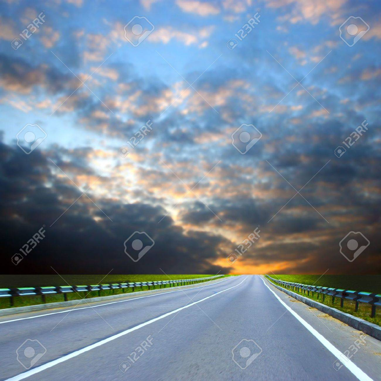 country car road on sundown of the year day Stock Photo - 4157964