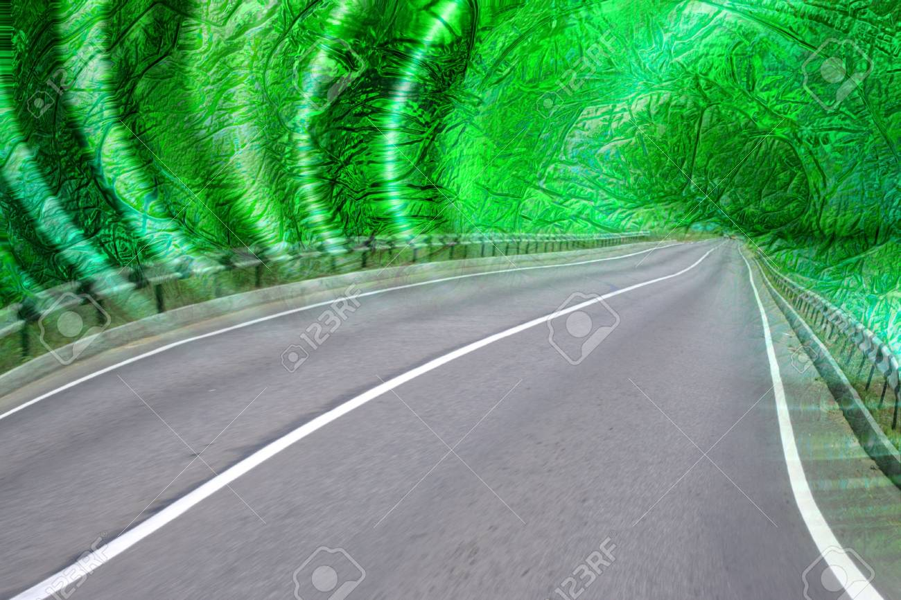 abstract scene with freeway Stock Photo - 4202447